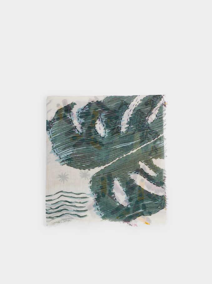 Pañuelo Modal Estampado Multicolor, Crudo, hi-res