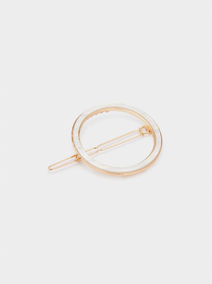 Hair Circular Pin, Pink, hi-res