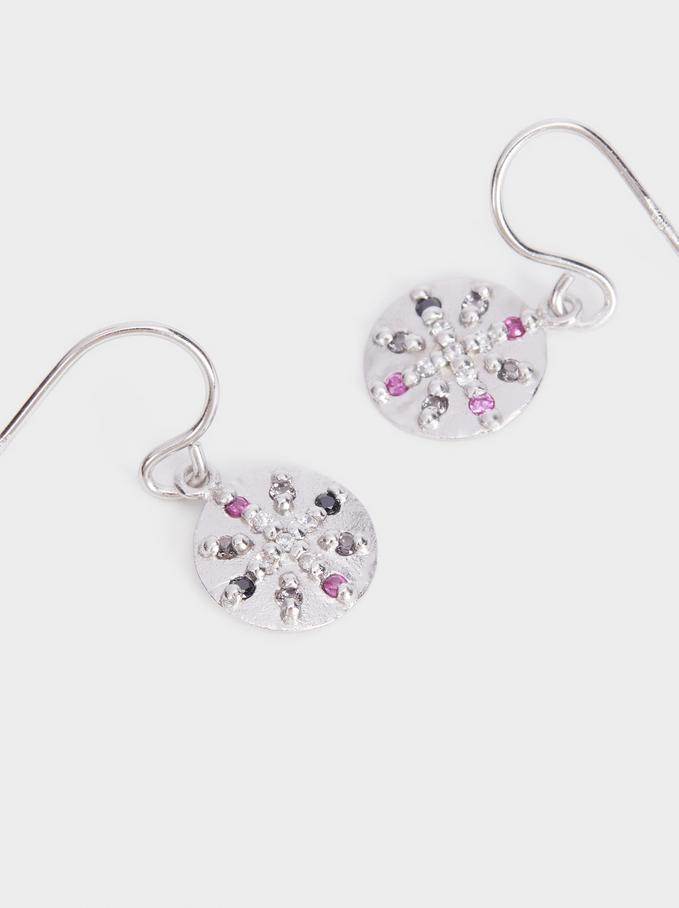 925 Silver Earrings With Zirconia, Multicolor, hi-res