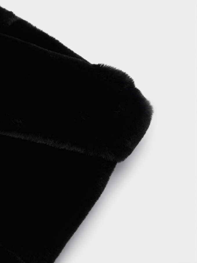 Faux Fur Snood, Black, hi-res