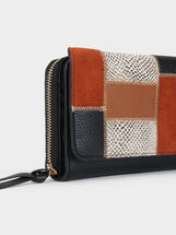 Large Patchwork Purse, Camel, hi-res