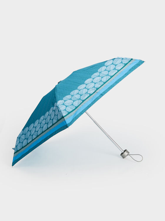 Small Printed Umbrella, Blue, hi-res