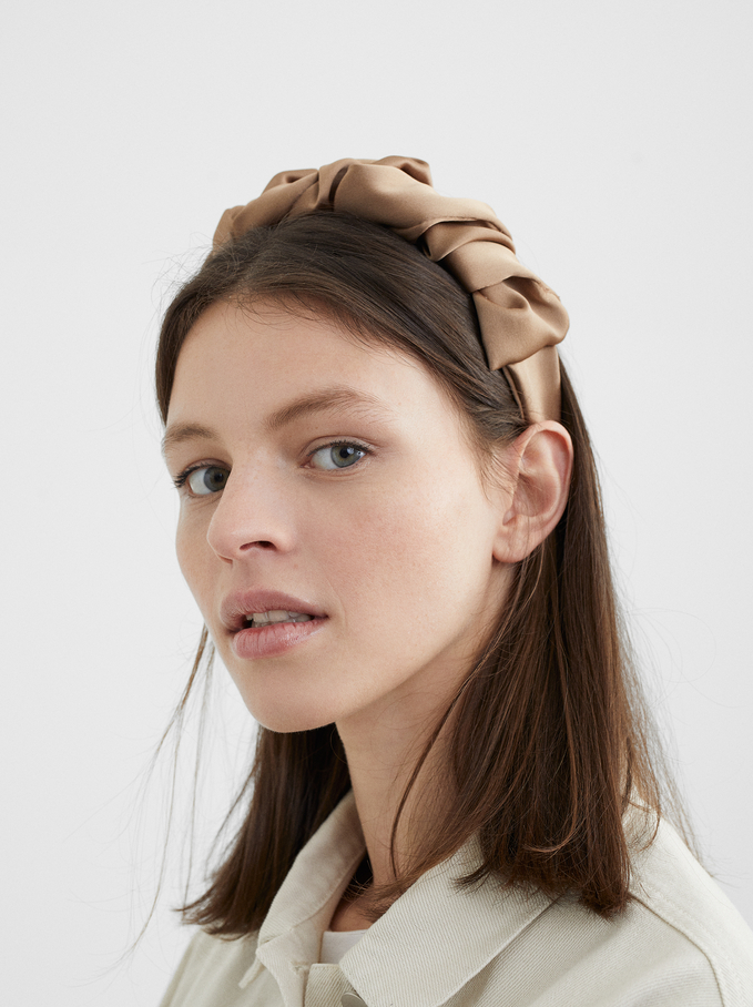 Gathered Headband, Pink, hi-res