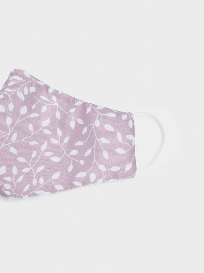 Reusable Printed Mask , Pink, hi-res