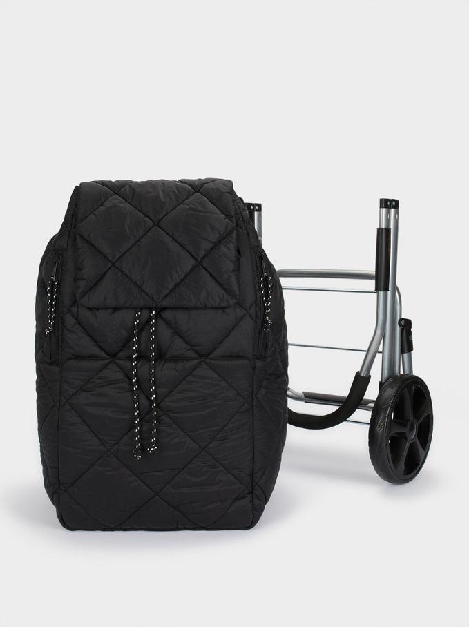 Chariot De Courses Pliable Multifonction, Noir, hi-res