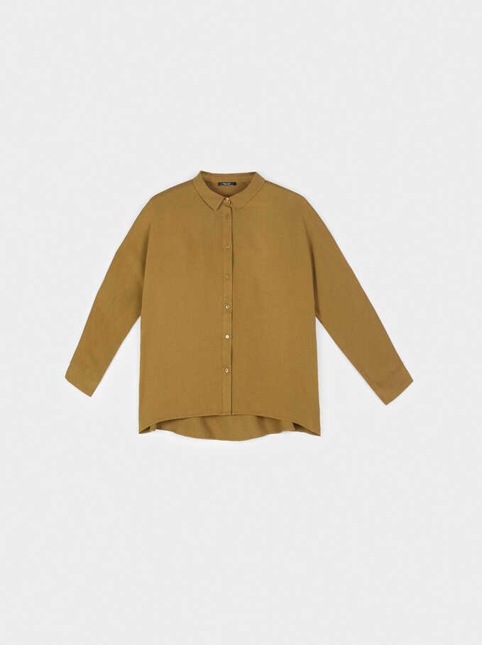 Plain Shirt, Green, hi-res