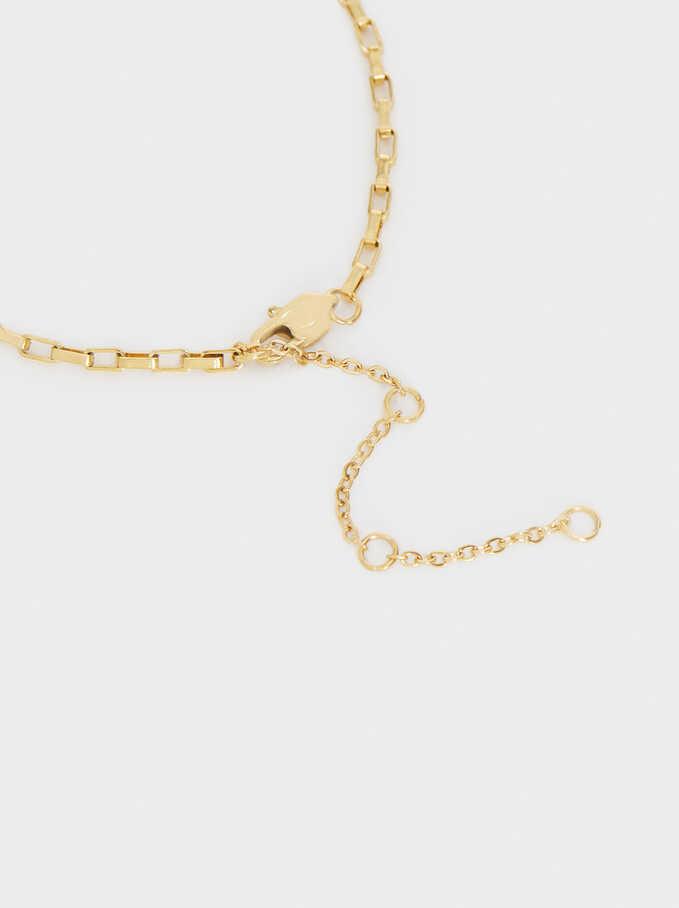 Gold-Toned Steel Bracelet With Star Charm, Golden, hi-res