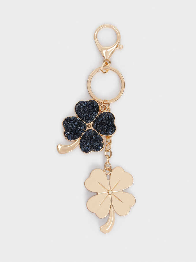Charm With Shamrock And Crystals, Navy, hi-res