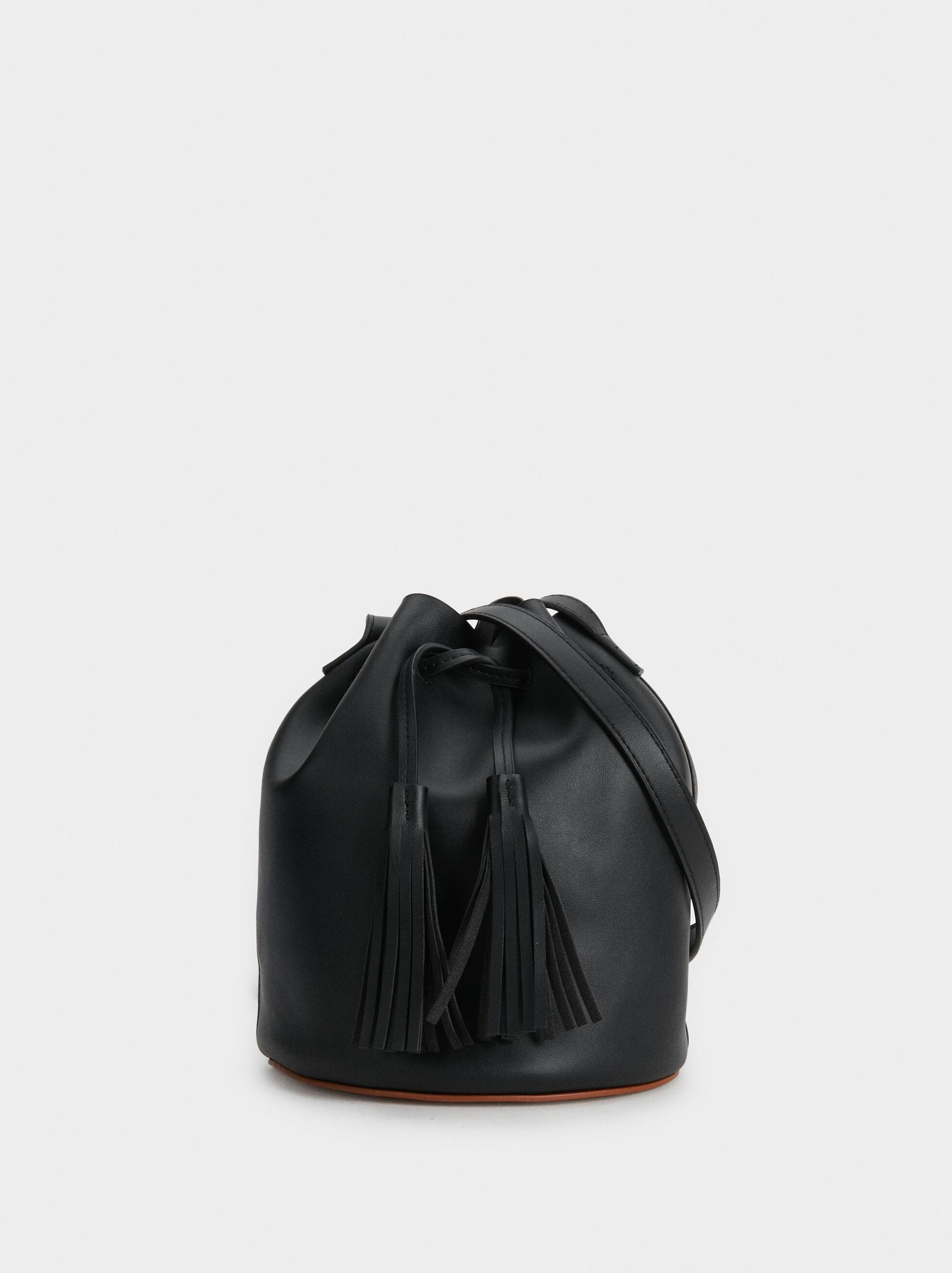 Bucket Bag With Tassels, , hi-res