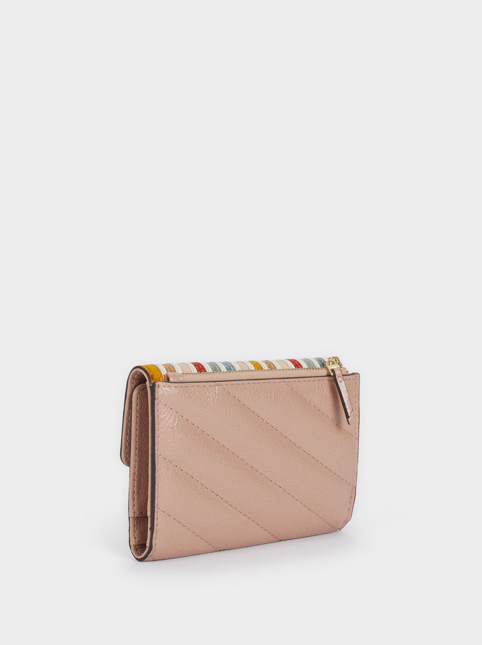 Wallet With Flap Closure, Pink, hi-res