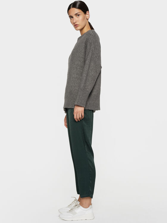 Jacquard Trousers, Green, hi-res