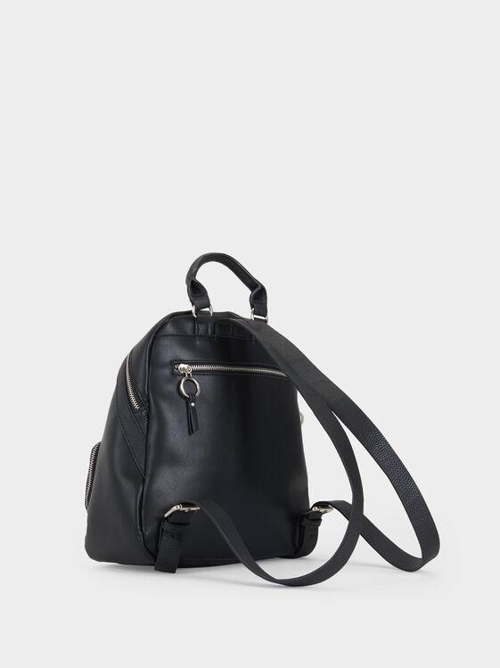 Backpack With Outer Pocket, Black, hi-res