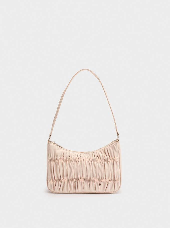 Party Shoulder Bag With Pleats, Pink, hi-res