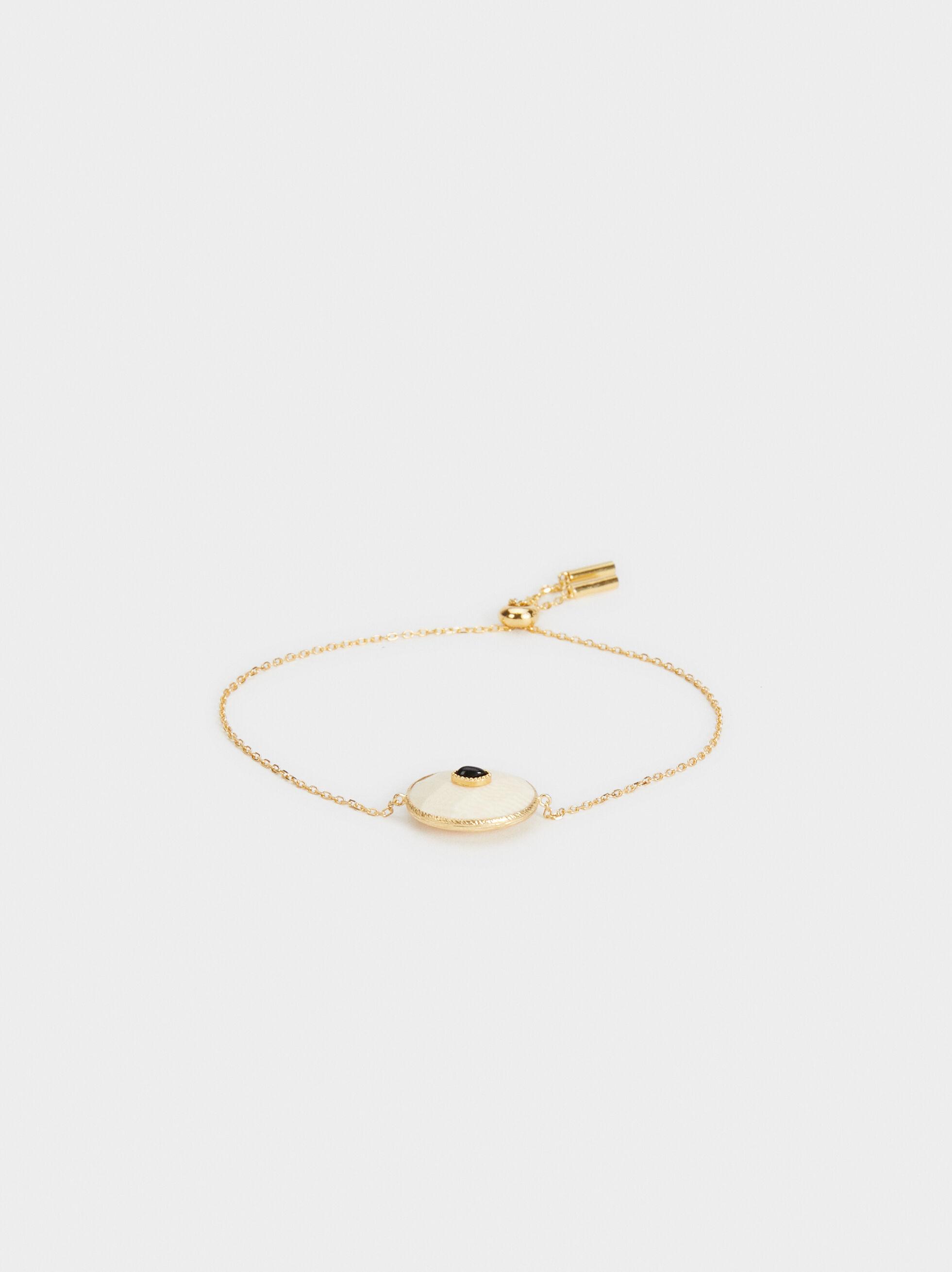 Adjustable 925 Silver Bracelet , Beige, hi-res