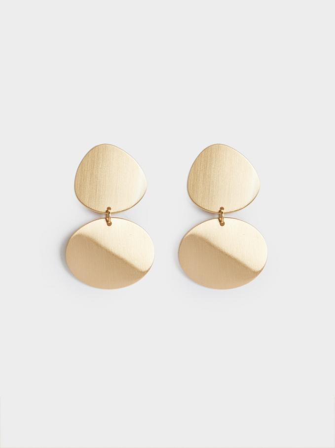 Gold Dangle Earrings, Golden, hi-res