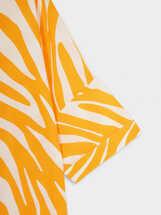 Vestido Camisero Estampado Animal, Naranja, hi-res