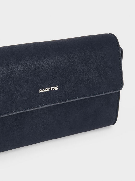 Large Purse With Flap, Navy, hi-res