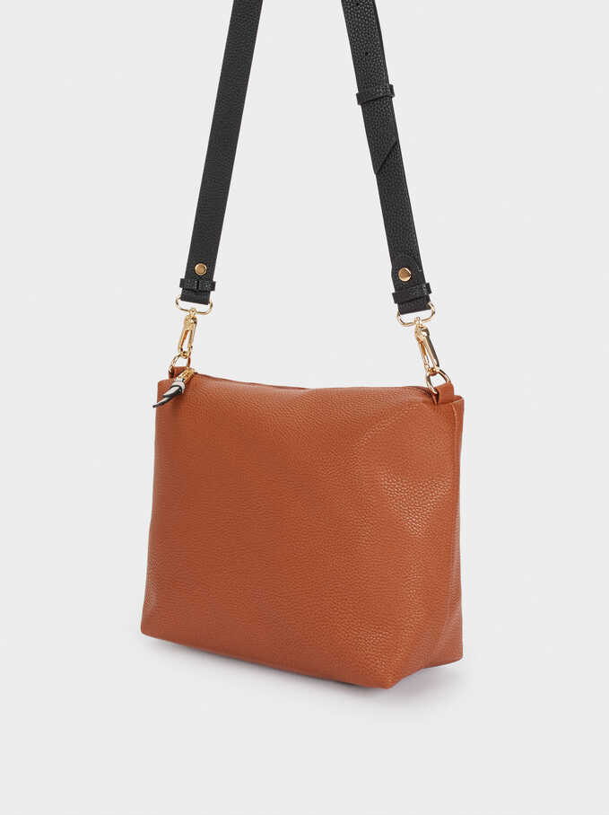 Reversible Tote Bag With Removable Inner Section, Camel, hi-res