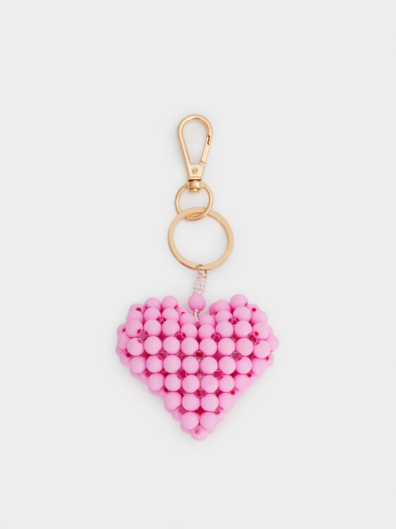 Heart Key Ring, Pink, hi-res