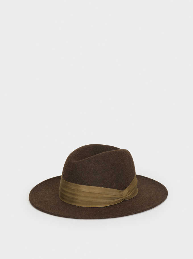 Wool Hat, Khaki, hi-res