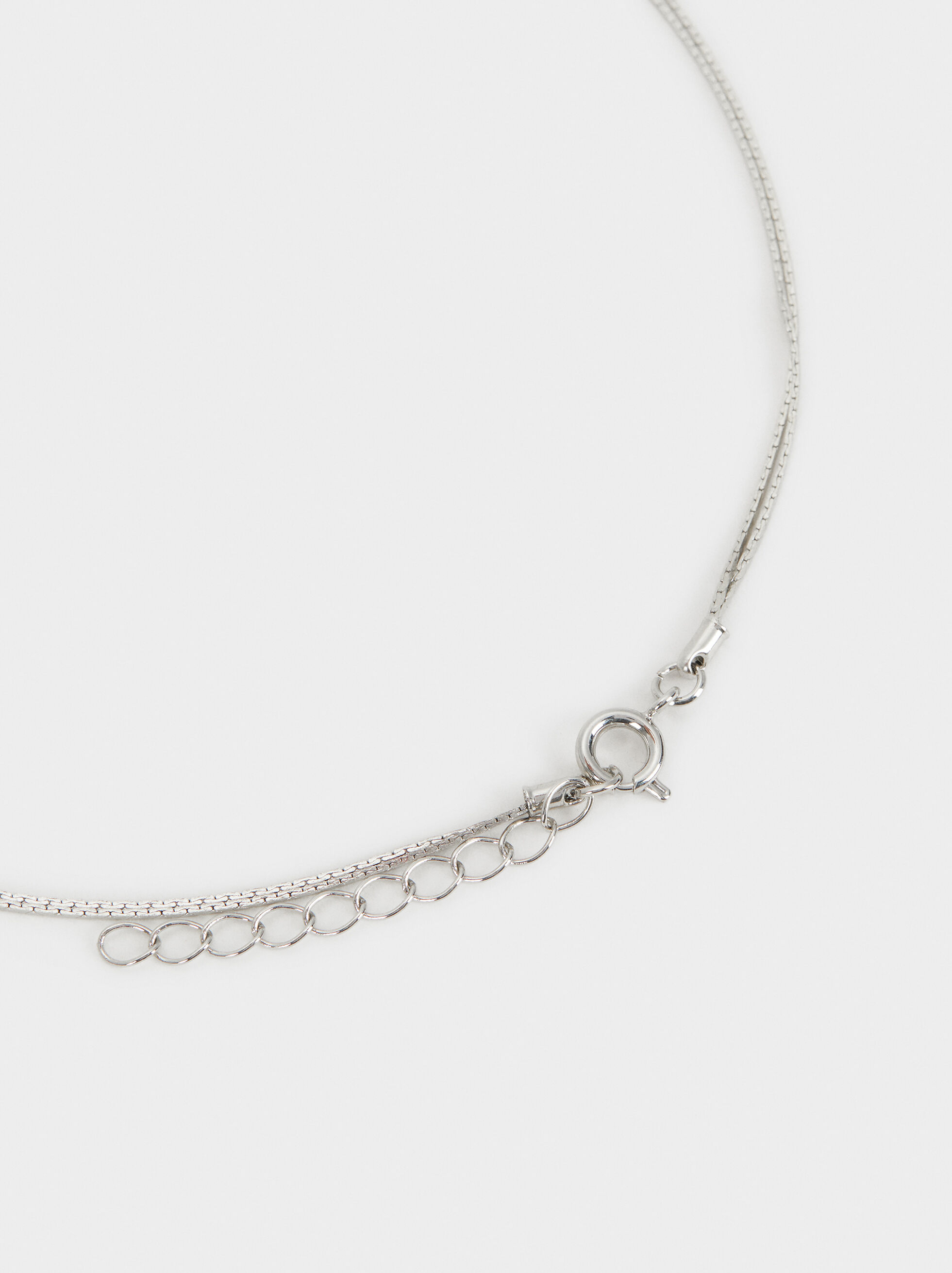 Basic Long Necklace, Silver, hi-res