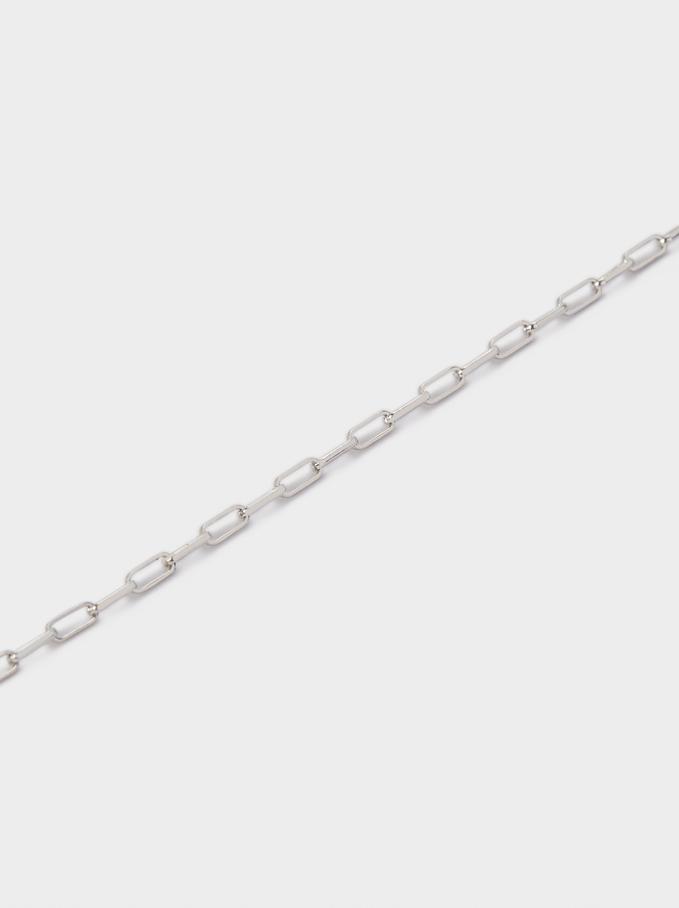 Silver Bracelet With Links, Silver, hi-res