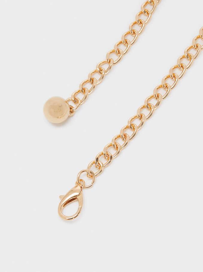 Gold Metal Link Belt, Golden, hi-res