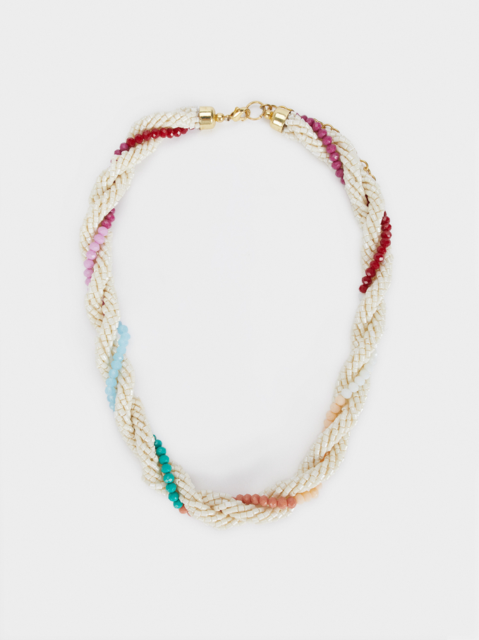 Sea Breeze Short Necklace With Beads, Multicolor, hi-res