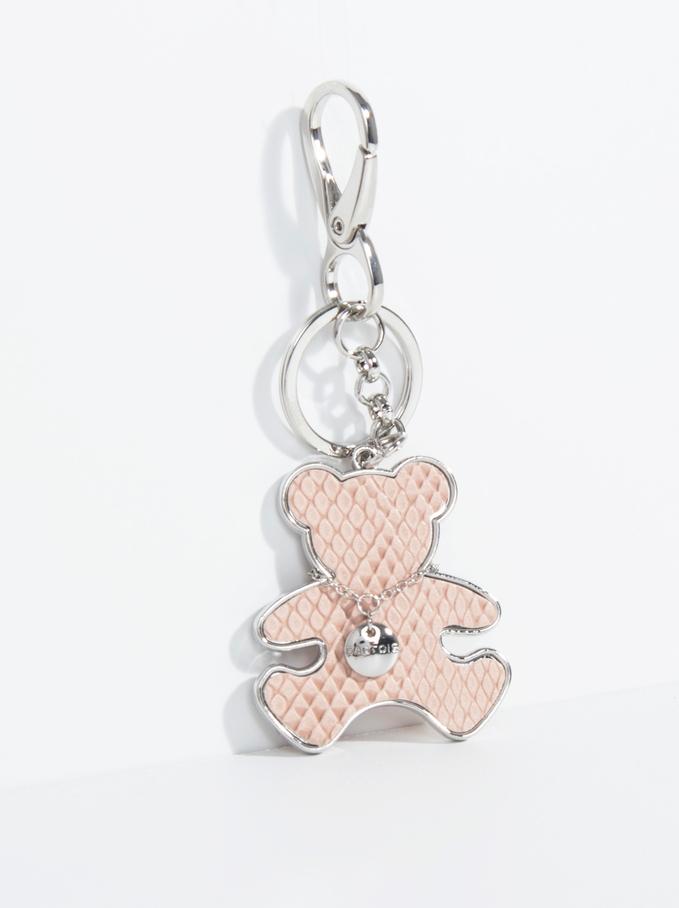 Teddy Bear Keychain , Pink, hi-res