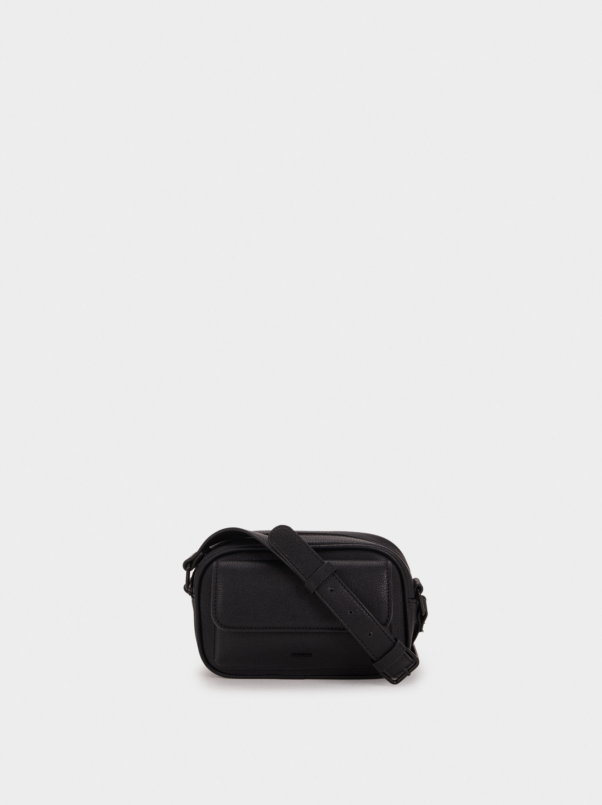 Shoulder Bag With Outer Pocket, , hi-res