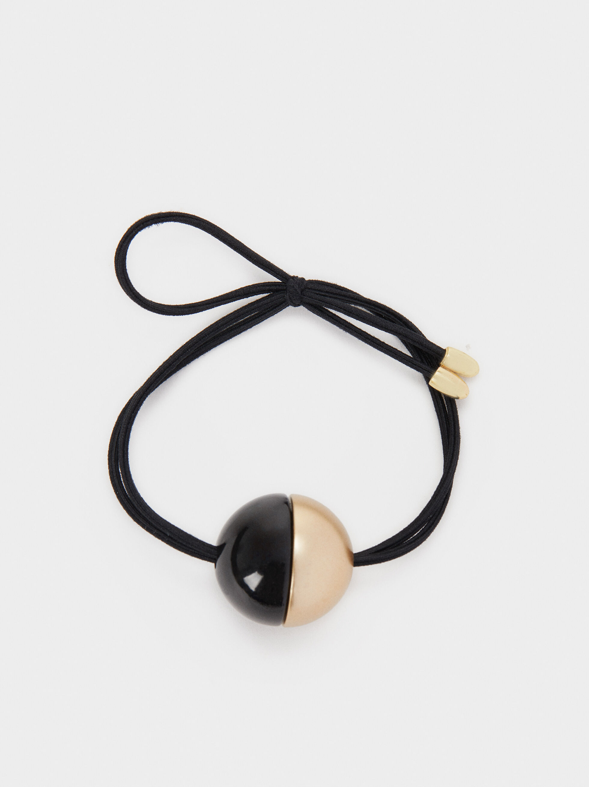 Two-Tone Sphere Hair Band, Black, hi-res