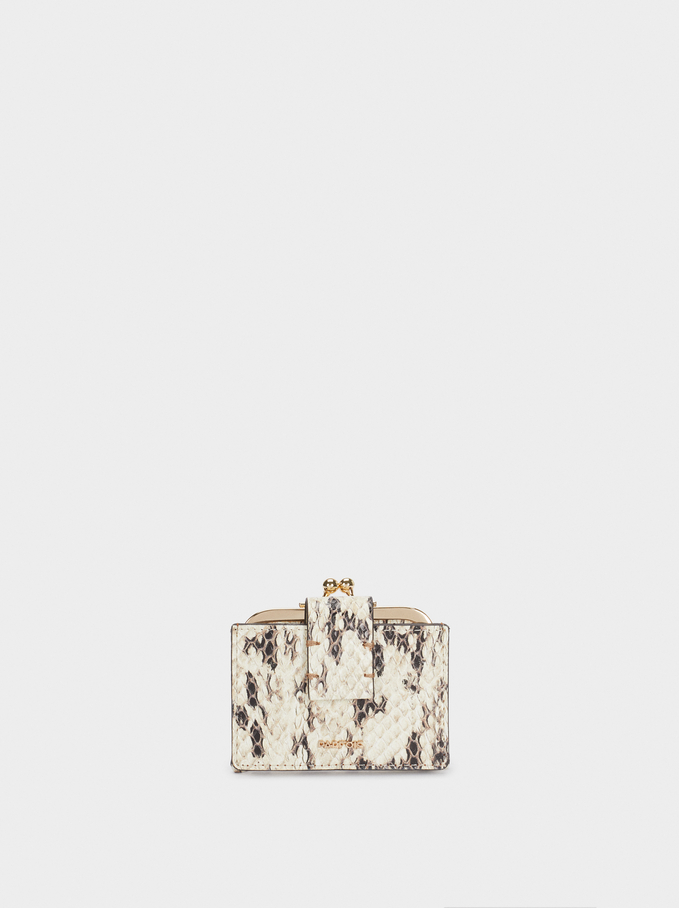 Animal Print Purse, Ecru, hi-res