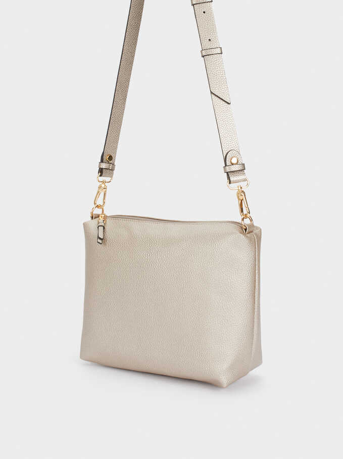 Reversible Tote Bag With Removable Inner Section, Golden, hi-res