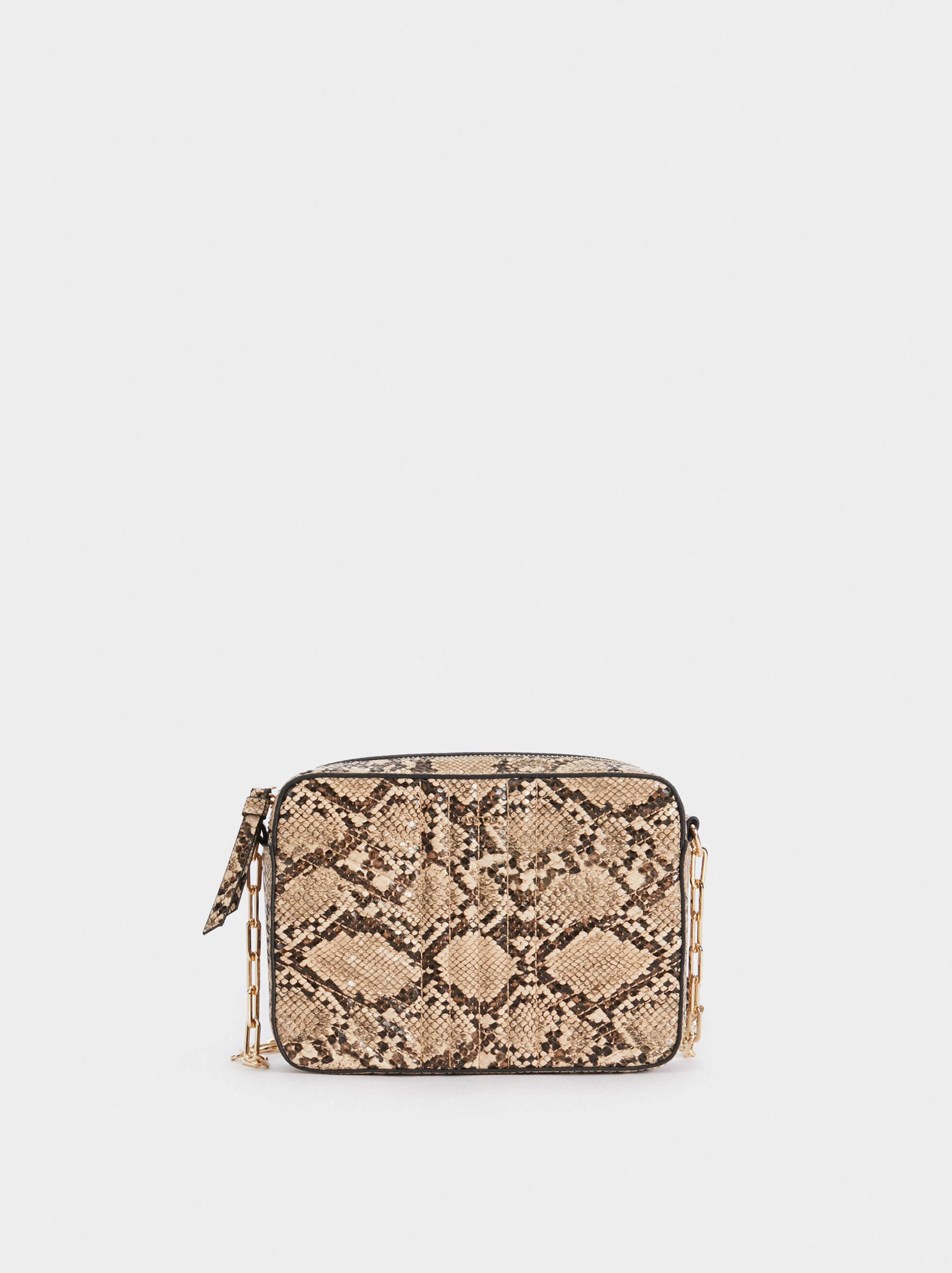 Faux Snakeskin Crossbody Bag, , hi-res