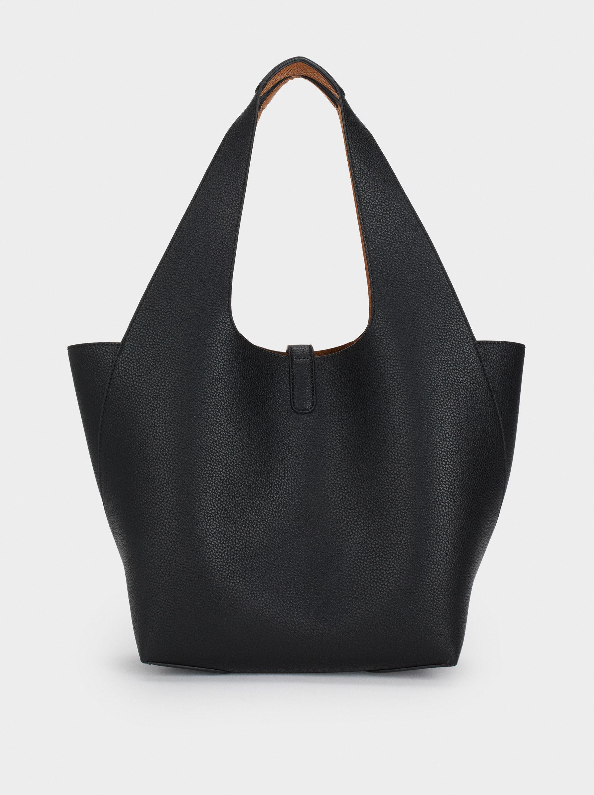 Reversible Handbag, Black, hi-res