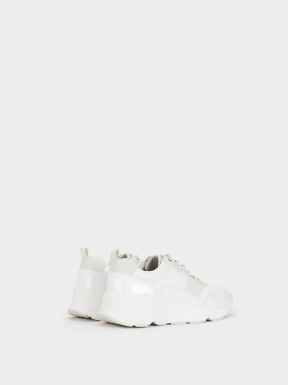 Online Exclusive Maxi Sole Trainers, White, hi-res