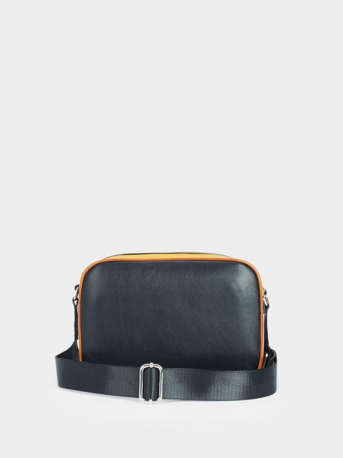 Zebra Print Crossbody Bag, Camel, hi-res