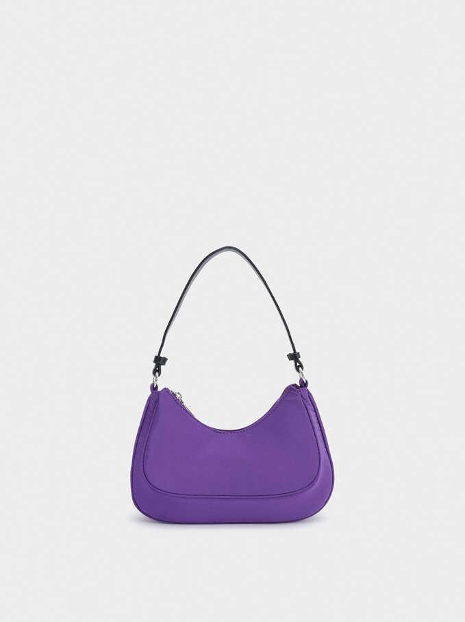 Nylon Shoulder Bag, Purple, hi-res