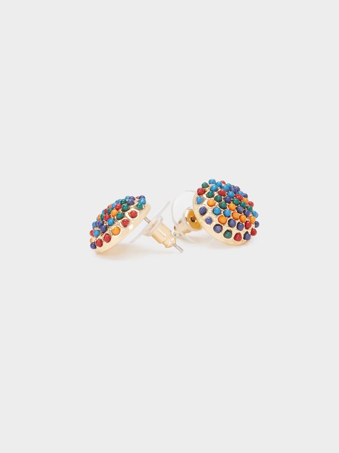 Orecchini Corti Con Perline, Multicolore, hi-res