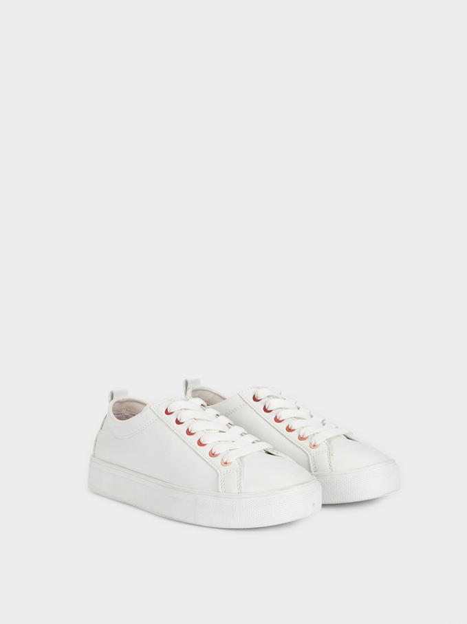 Sapatilhas Desportivas Brancas, Branco, hi-res