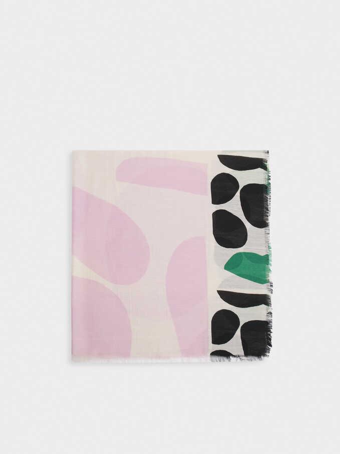 Pañuelo Con Estampado, Violeta, hi-res
