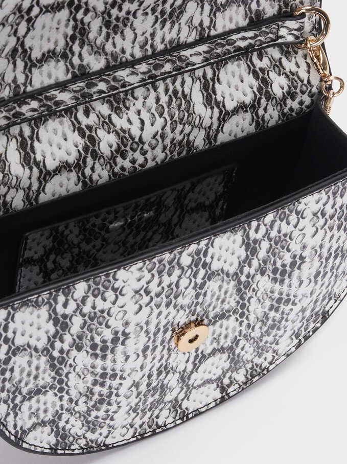 Double Position Strap Crossbody Bag, Black, hi-res