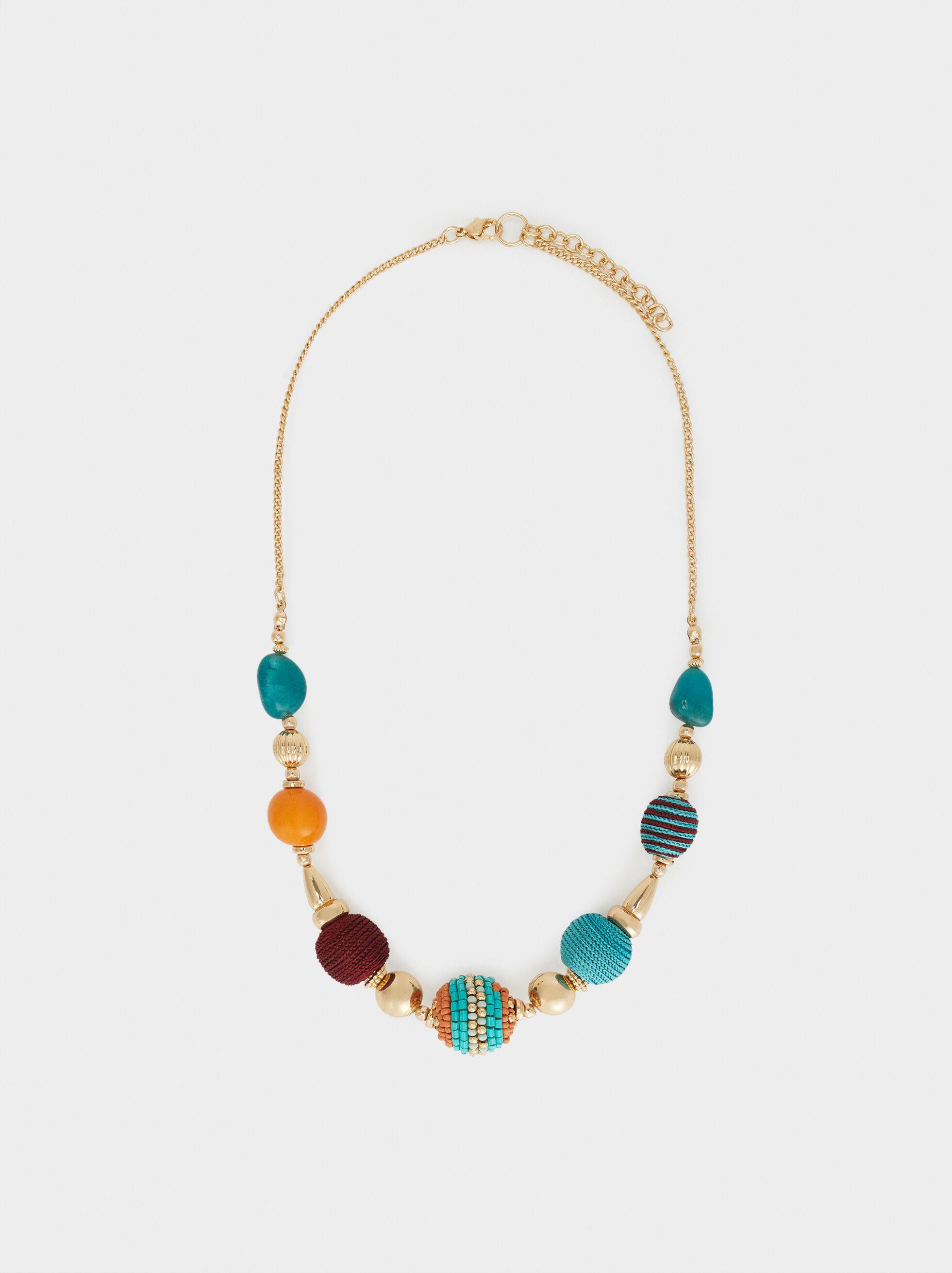 Cherry Blossom Short Necklace, Multicolor, hi-res