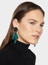 Botanic Party Long Earrings, Multicolor, hi-res