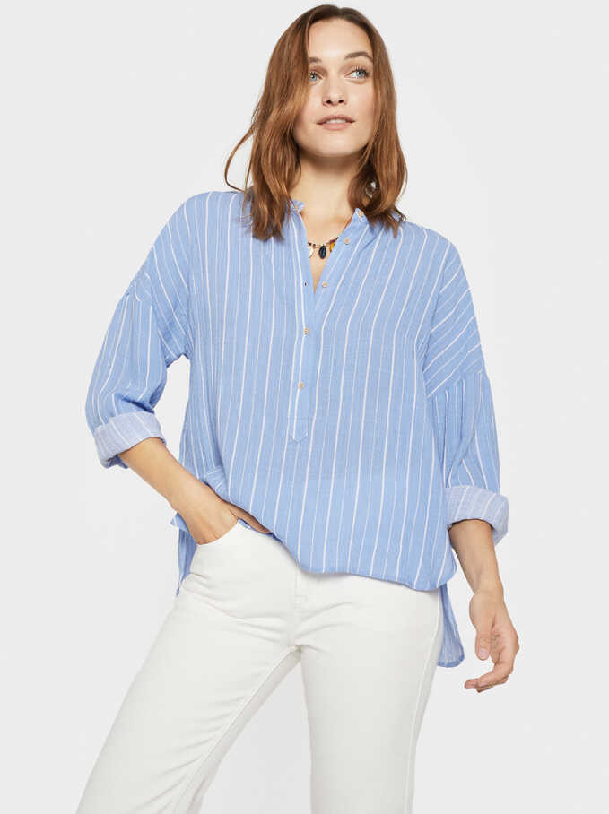 Blusa Stripes, Azul, hi-res