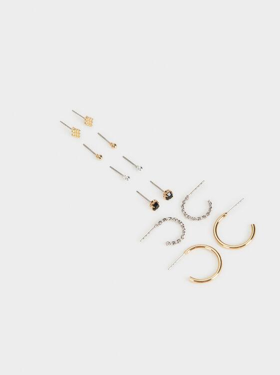 Set Of Blog Earrings, Multicolor, hi-res