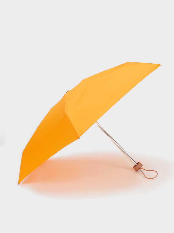 Paraguas Pequeño Plegable Liso, Naranja, hi-res