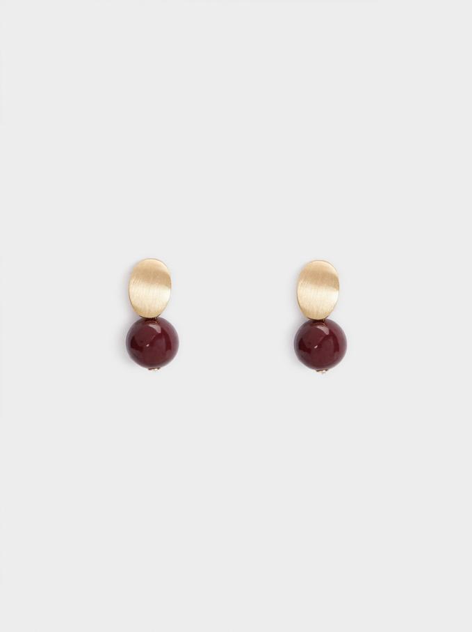 Bubbles Short Earrings, Bordeaux, hi-res
