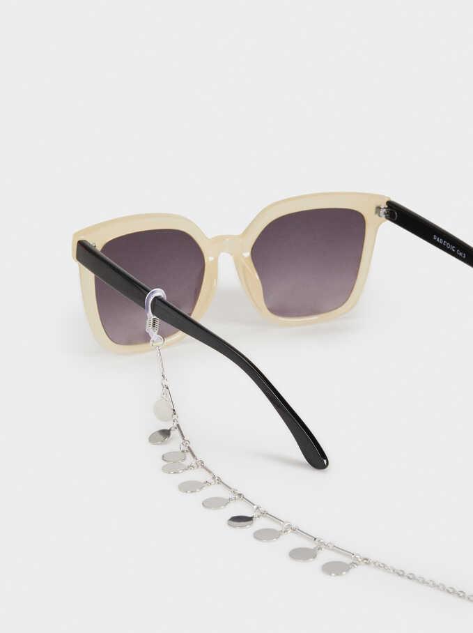 Cordón Para Gafas Con Colgantes, Plateado, hi-res