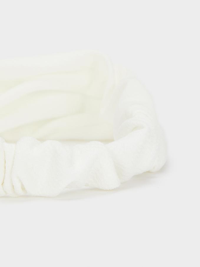 Turban-Style Headband , White, hi-res